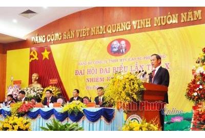 Đảng bộ Công ty cao su Phú Riềng cần quan tâm quy hoạch, đào tạo cán bộ cho Tập đoàn