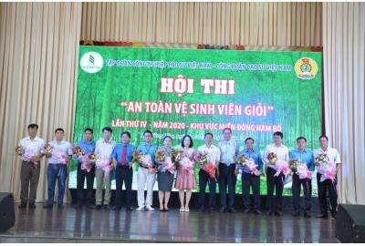 Cao su Phú Riềng giải nhất thi An toàn vệ sinh viên giỏi.